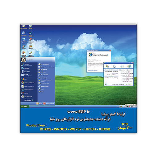 Microsoft Windows XP Pro SP3 IE8